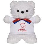 Ann On Fire Teddy Bear