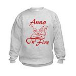 Anna On Fire Kids Sweatshirt