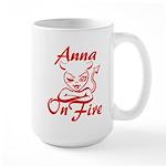 Anna On Fire Large Mug