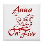 Anna On Fire Tile Coaster