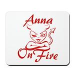 Anna On Fire Mousepad