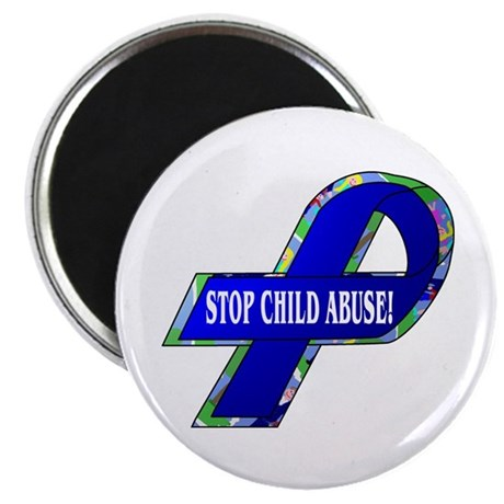 """Child Abuse Awareness 2.25"""" Magnet (100 pack)"""