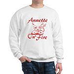 Annette On Fire Sweatshirt