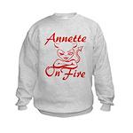Annette On Fire Kids Sweatshirt