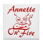 Annette On Fire Tile Coaster