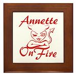 Annette On Fire Framed Tile