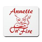 Annette On Fire Mousepad