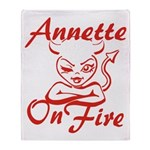 Annette On Fire Throw Blanket