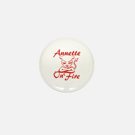 Annette On Fire Mini Button
