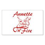 Annette On Fire Sticker (Rectangle)
