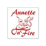 Annette On Fire Square Sticker 3