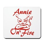 Annie On Fire Mousepad