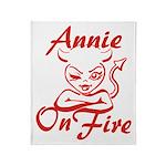 Annie On Fire Throw Blanket