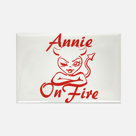 Annie On Fire Rectangle Magnet