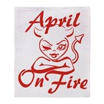 April On Fire Throw Blanket