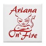 Ariana On Fire Tile Coaster