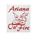 Ariana On Fire Throw Blanket