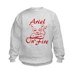 Ariel On Fire Kids Sweatshirt
