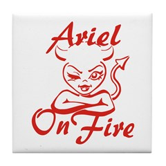 Ariel On Fire Tile Coaster