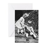 Children with Crow - Greeting Cards (Pk of 10)