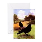 Crows in Field - Greeting Cards (Pk of 10)
