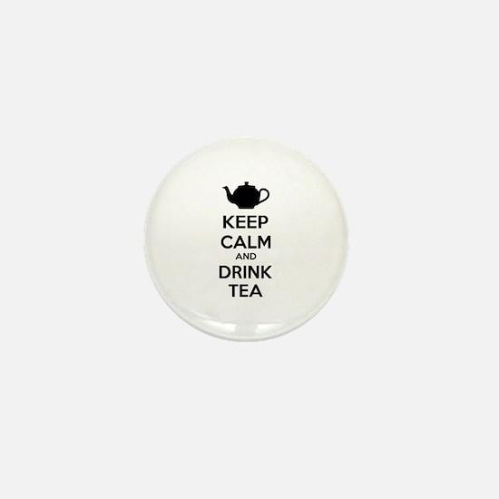 Keep calm and drink tea Mini Button