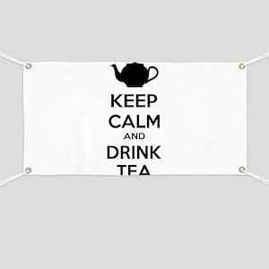 Keep calm and drink tea Banner