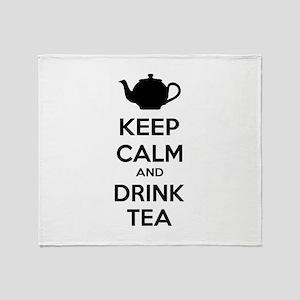 Keep calm and drink tea Throw Blanket
