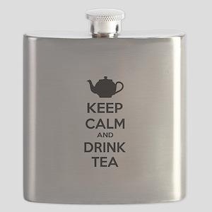 Keep calm and drink tea Flask
