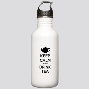 Keep calm and drink tea Stainless Water Bottle 1.0