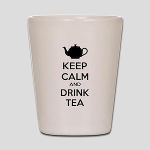 Keep calm and drink tea Shot Glass