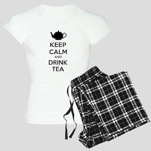 Keep calm and drink tea Women's Light Pajamas