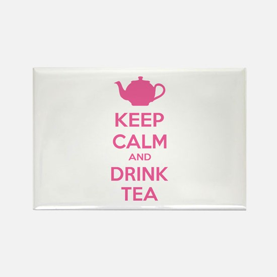 Keep calm and drink tea Rectangle Magnet