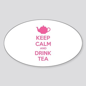Keep calm and drink tea Sticker (Oval)
