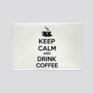 Keep calm and drink coffee Rectangle Magnet