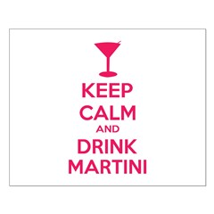 Keep calm and drink martini Posters