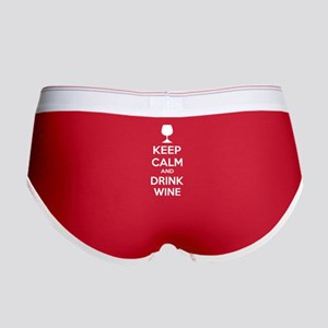 Keep calm and drink wine Women's Boy Brief