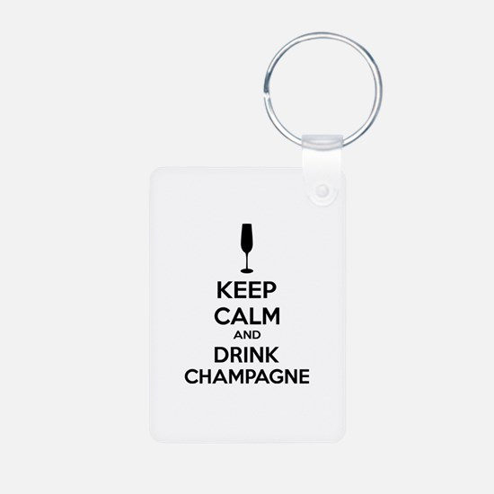Keep calm and drink champagne Keychains
