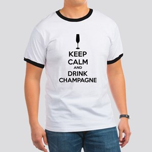 Keep calm and drink champagne Ringer T