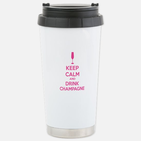 Keep calm and drink champagne Stainless Steel Trav