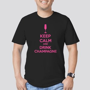 Keep calm and drink champagne Men's Fitted T-Shirt