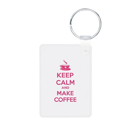 Keep calm and make coffee Aluminum Photo Keychain
