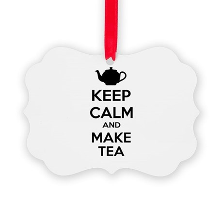 Keep calm and make tea Picture Ornament