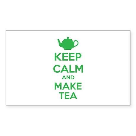 Keep calm and make tea Sticker (Rectangle)