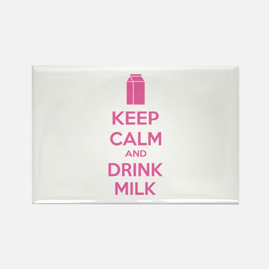 Keep calm and drink milk Rectangle Magnet (100 pac