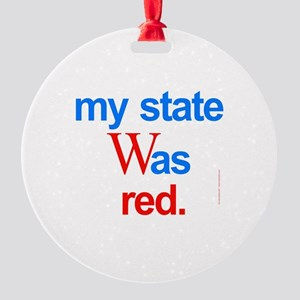 state red Bush Election Voted Round Ornament