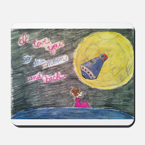 To the moon and back Mousepad