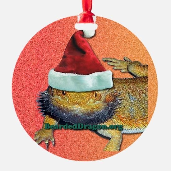 Beardie Christmas Ornament (Round)