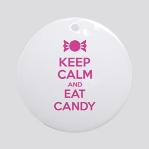 Keep calm and eat candy Ornament (Round)