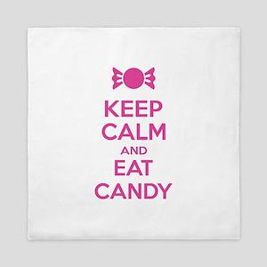 Keep calm and eat candy Queen Duvet